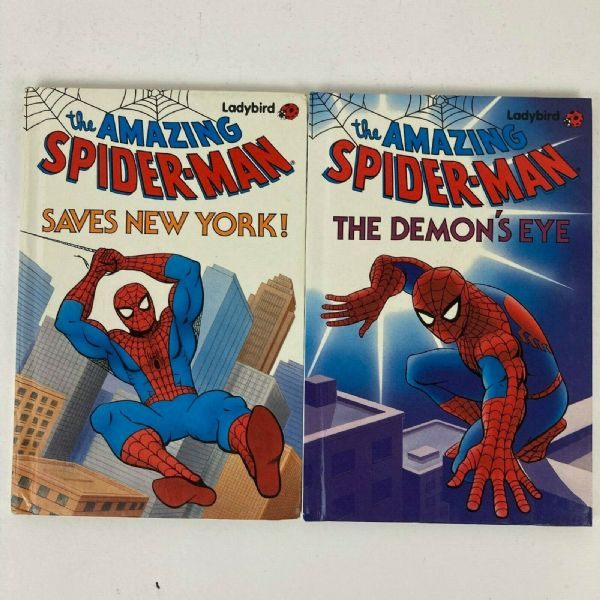 Rare Vintage Ladybird Books Job Lot x 2 of Amazing Spiderman Series 906